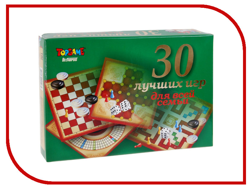 Настольная игра TOPGAME 30 лучших игр для всей семьи 00126<br>