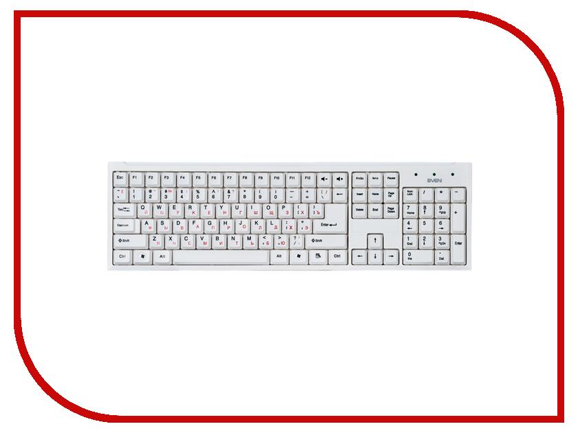 Клавиатура Sven Standard 303 White USB SV-03100303UW клавиатура проводная sven sv 0310