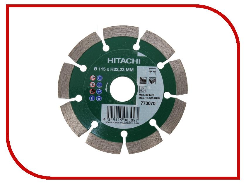 Диск Hitachi 773070 115mm H22.23mm алмазный, универсальный