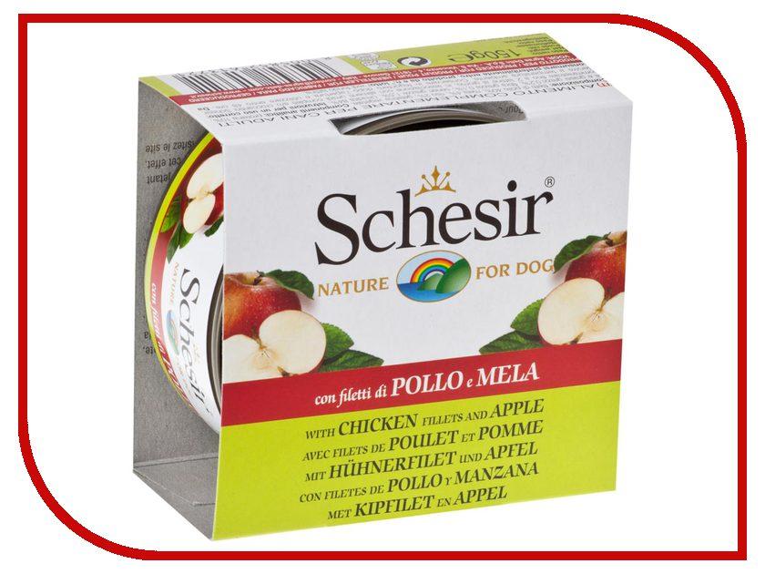 Корм Schesir С372 Цыпленок/Яблоко 150g для собак<br>