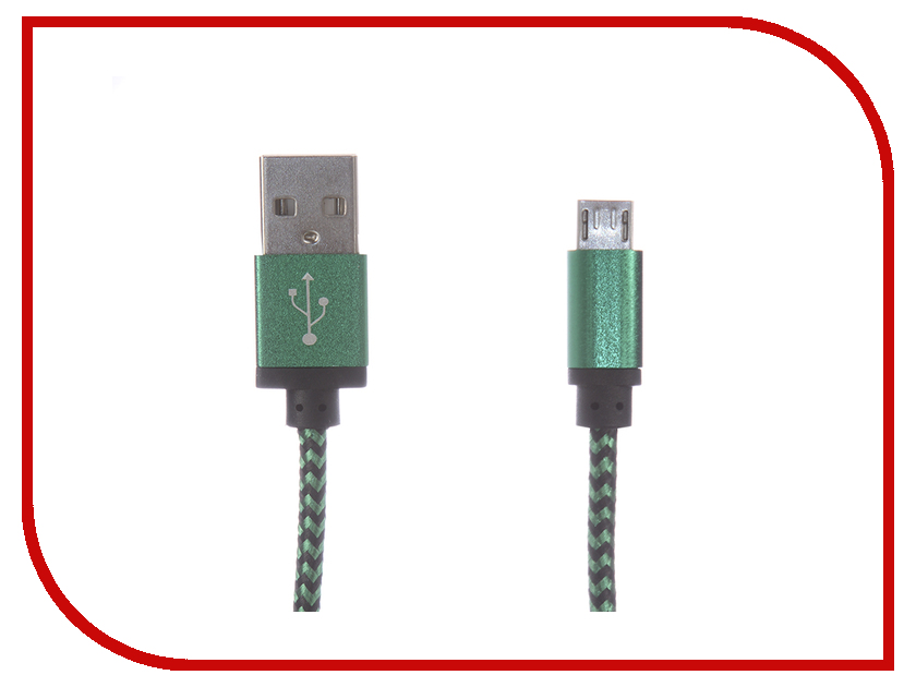 Аксессуар Gembird Cablexpert USB AM/microBM 5P 1m Green CC-mUSB2gn1m аксессуар 5bites usb am min 5p 1m uc5007 010