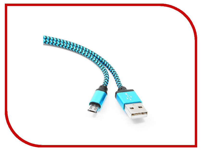 Аксессуар Gembird Cablexpert USB AM/microBM 5P 1m Blue CC-mUSB2bl1m<br>