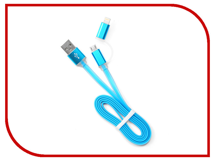 Аксессуар Gembird Cablexpert USB AM/microBM 5P to iPhone Lightning 1m Blue CC-mAPUSB2bl1m<br>