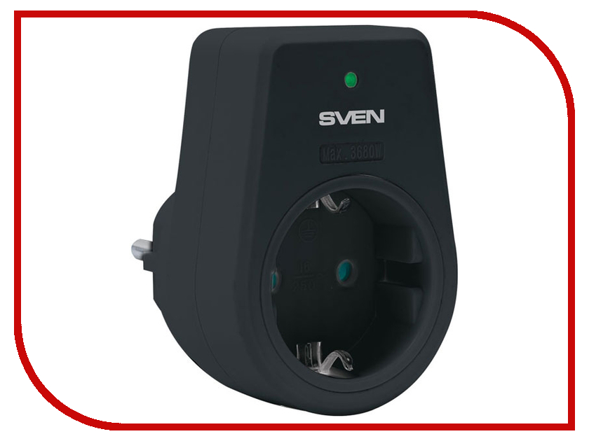 Аксессуар Sven UNO 1 Socket Black SV-012588