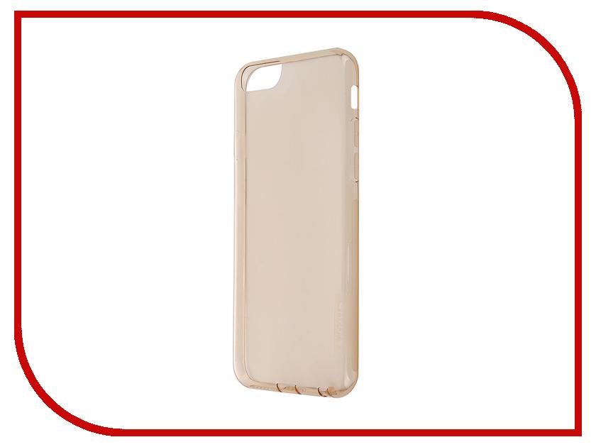 Аксессуар Чехол-накладка Nillkin Nature TPU Case для iPhone 6/6S Transparent Gold<br>