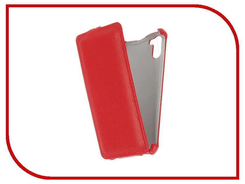 Аксессуар Чехол Ginzzu S5140 Gecko Red GG-F-GINS5140-RED аксессуар чехол prestigio muze d3 gecko red gg f presmuze red