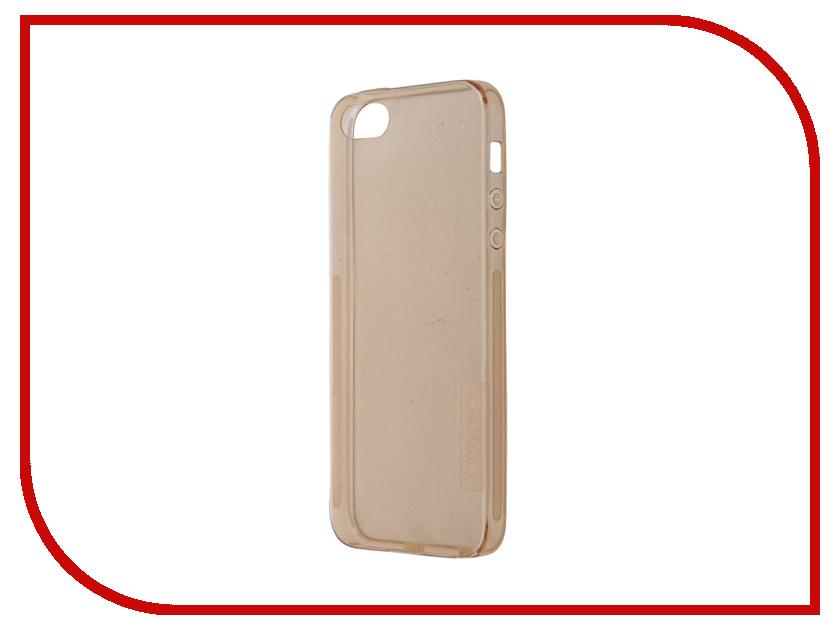 Аксессуар Чехол-накладка Nillkin Nature TPU Case для iPhone 5S/SE Transparent Gold<br>
