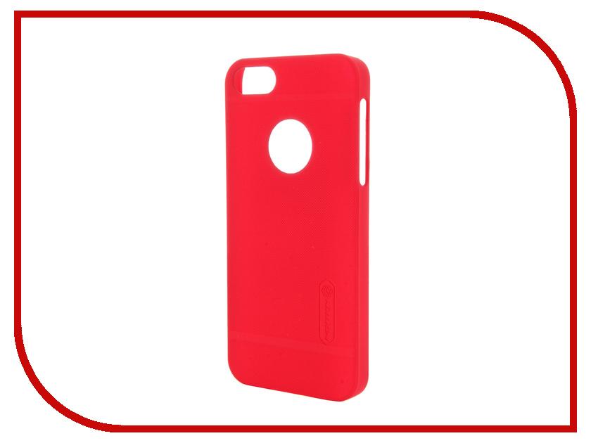 Аксессуар Чехол-накладка Nillkin Frosted Shield для iPhone 5S/SE Red