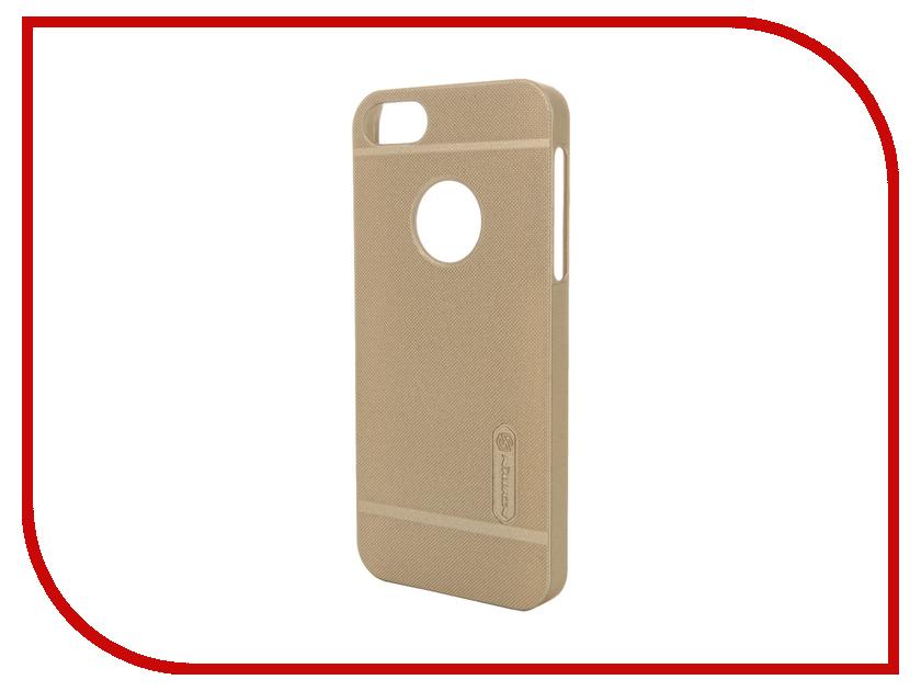 Аксессуар Чехол-накладка Nillkin Frosted Shield для iPhone 5 / 5S / SE Gold<br>