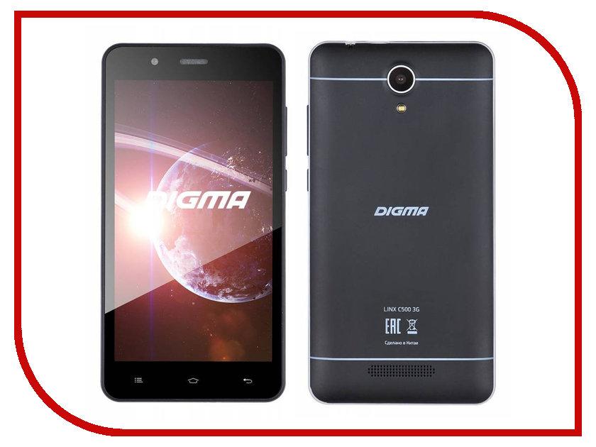 Сотовый телефон Digma Linx C500 3G Graphite digma linx a420 3g 4гб белый dual sim 3g