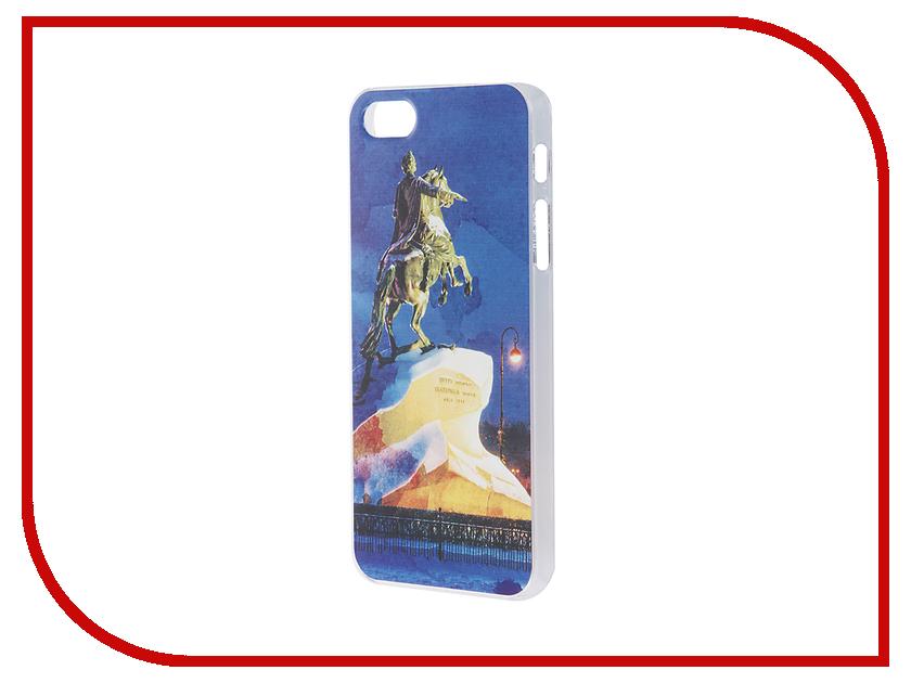 Аксессуар Чехол iPapai для iPhone 5 / 5S / SE Петербург Акварель Медный всадник<br>