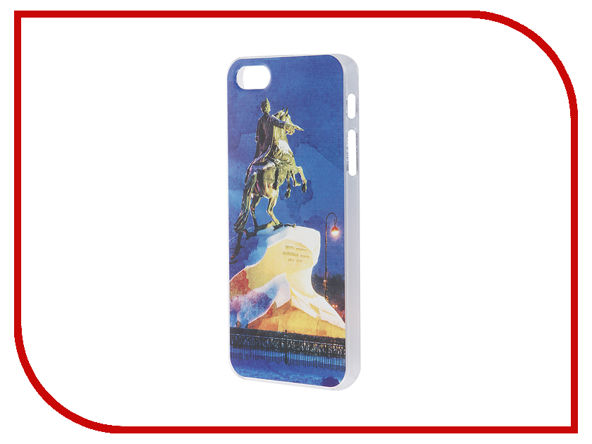 Аксессуар Чехол iPapai для iPhone 5 / 5S Петербург Акварель Медный всадник<br>