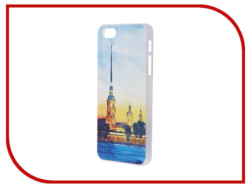 Аксессуар Чехол iPapai для iPhone 5 / 5S / SE Петербург Акварель Петропавловская крепость<br>