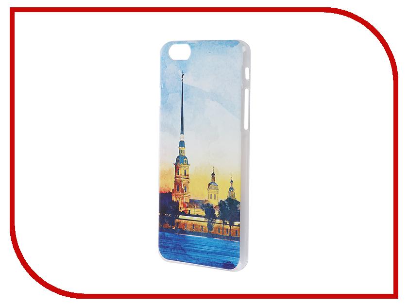 Аксессуар Чехол iPapai для iPhone 6 / 6S Петербург Акварель Петропавловская крепость<br>