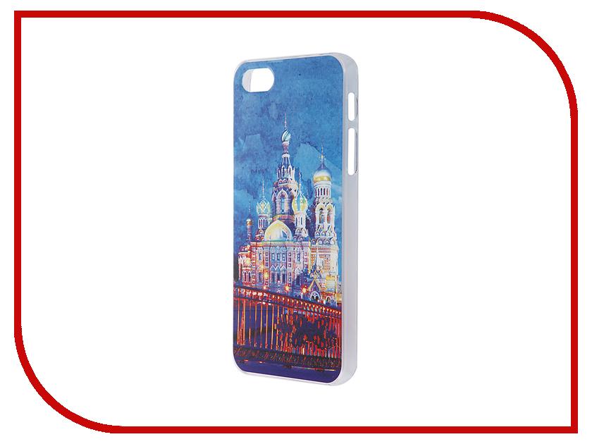 Аксессуар Чехол iPapai для iPhone 5 / 5S Петербург Акварель Спас на крови<br>
