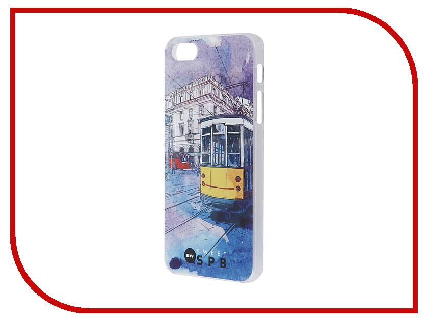 Аксессуар Чехол iPapai для iPhone 5 / 5S Петербург Трамвай<br>
