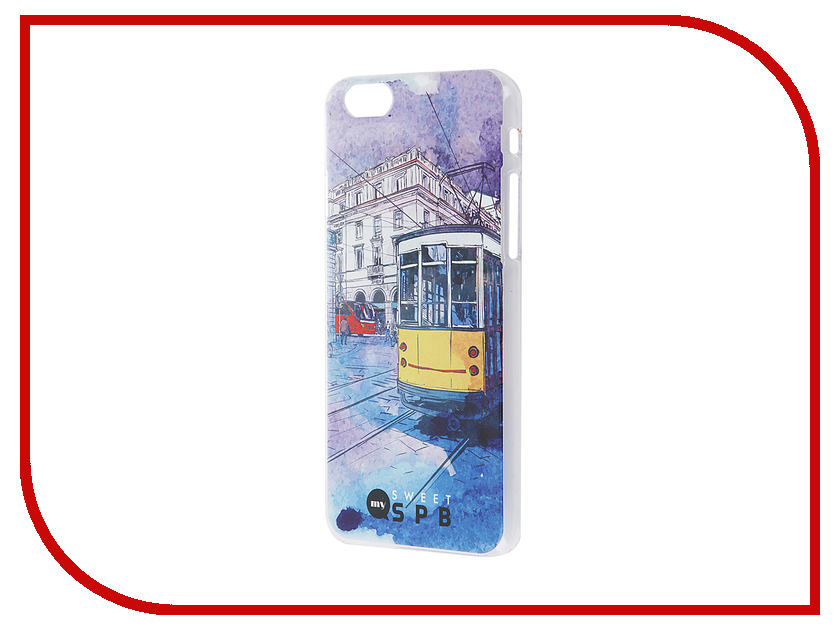 Аксессуар Чехол iPapai для iPhone 6 / 6S Петербург Трамвай<br>