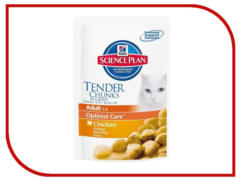 Корм Hills Science Plan Optimal Care Adult Курица 85g для кошек 2104<br>