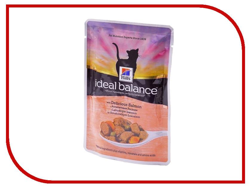 Корм Hills Ideal Balance Аппетитный лосось 85g для кошек 10025 корм hills science plan optimal care adult лосось 85g для кошек 4535