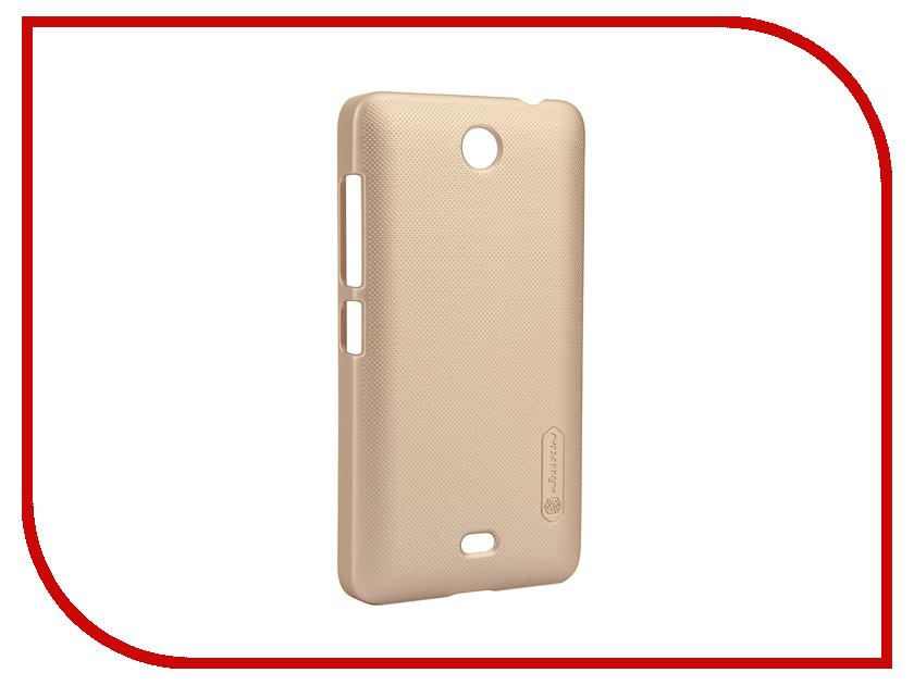Аксессуар Чехол Microsoft Lumia 430 Dual Sim Nillkin Frosted Shield Gold