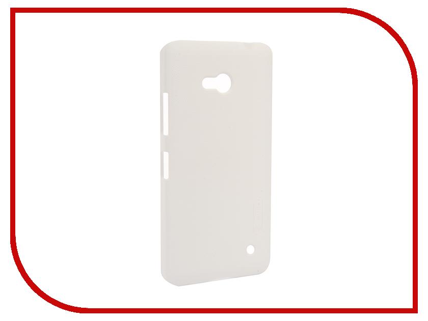Аксессуар Чехол Microsoft Lumia 640 Nillkin Frosted Shield White<br>