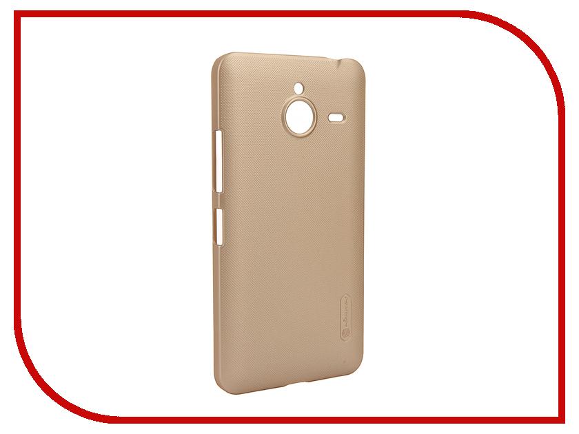 Аксессуар Чехол Microsoft Lumia 640 XL Nillkin Frosted Shield Gold<br>