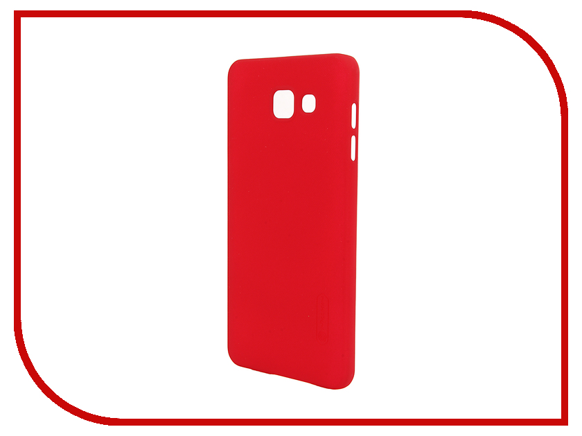 Аксессуар Чехол Samsung Galaxy A7 2016 A710 Nillkin Frosted Shield Red<br>