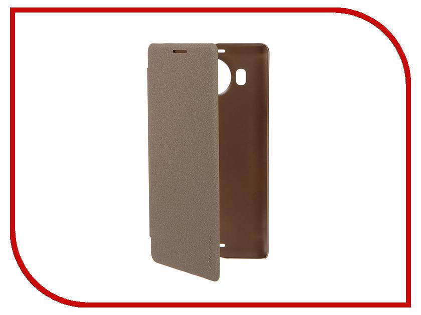 Аксессуар Чехол Microsoft Lumia 950 XL Nillkin Sparkle Gold<br>