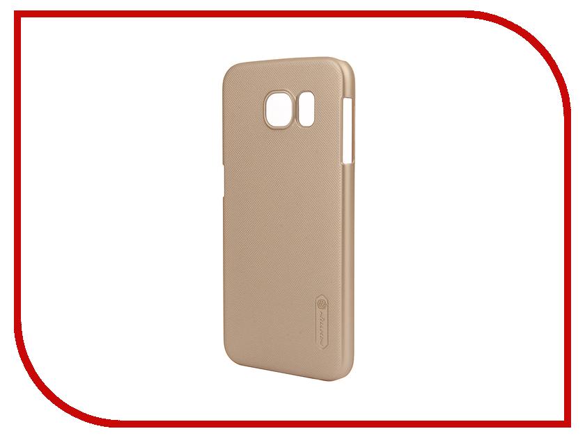 Аксессуар Чехол Samsung Galaxy S6 G920F Nillkin Frosted Shield Gold<br>