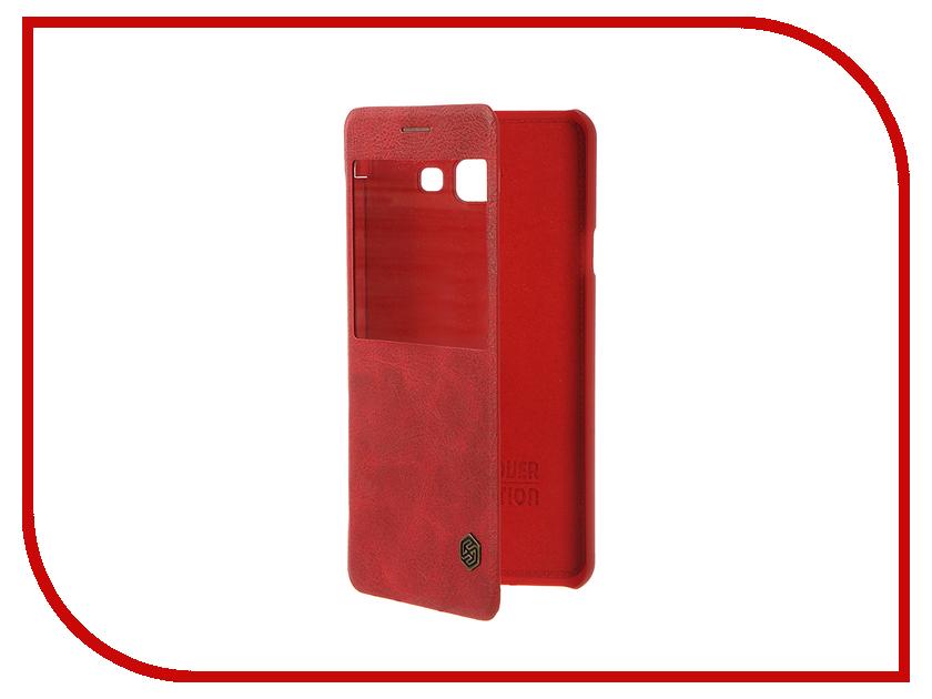 Аксессуар Чехол Samsung Galaxy A7 2016 A710 Nillkin QIN Red чехол из экокожи для samsung galaxy a7 2016 sm a710 светло зеленый mariso page 10