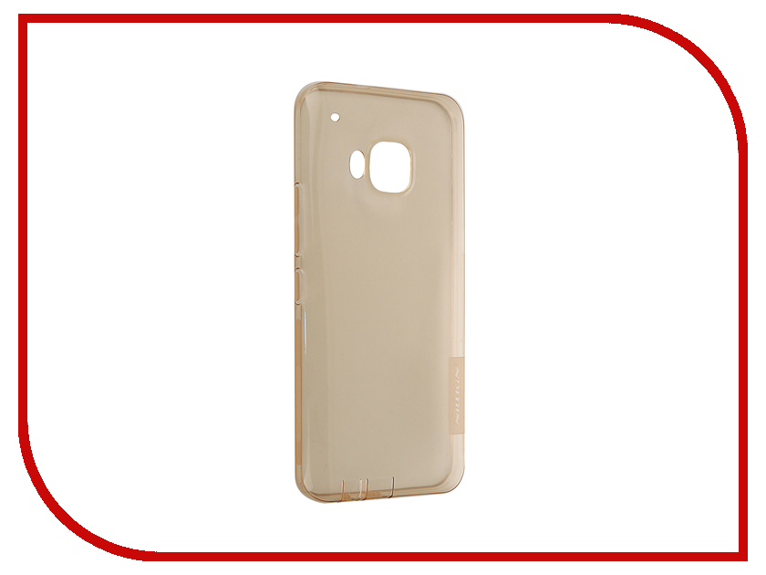 Аксессуар Чехол HTC One M9 Nillkin Nature TPU Transparent Gold<br>