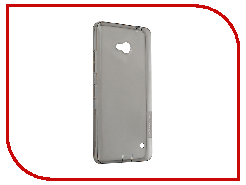 Аксессуар Чехол Microsoft Lumia 640 Nillkin Nature TPU Transparent Black<br>