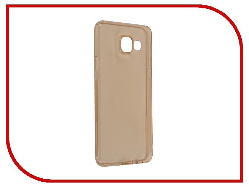 Аксессуар Чехол Samsung Galaxy A3 2016 A310 Nillkin Nature TPU Transparent Gold<br>