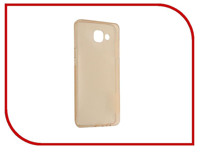 Аксессуар Чехол Samsung Galaxy A5 2016 A510 Nillkin Nature TPU Transparent Gold<br>