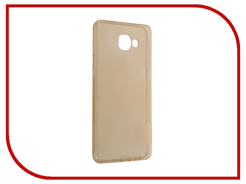 Аксессуар Чехол Samsung Galaxy A7 2016 A710 Nillkin Nature TPU Transparent Gold<br>