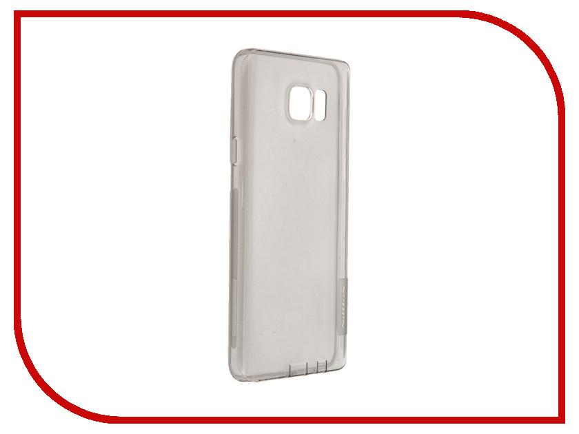 Аксессуар Чехол Samsung Galaxy Note 5 N920T Nillkin Nature TPU Transparent Black<br>