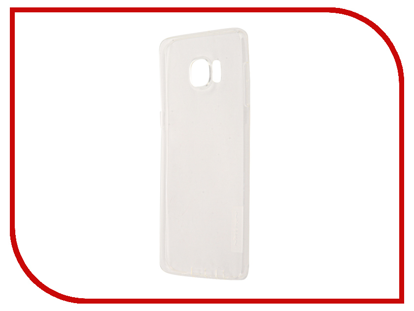 Аксессуар Чехол для Samsung Galaxy S6 Edge+ G928T Nillkin Nature TPU Transparent White аксессуар чехол samsung galaxy j3 2017 cojess tpu 0 3mm transparent