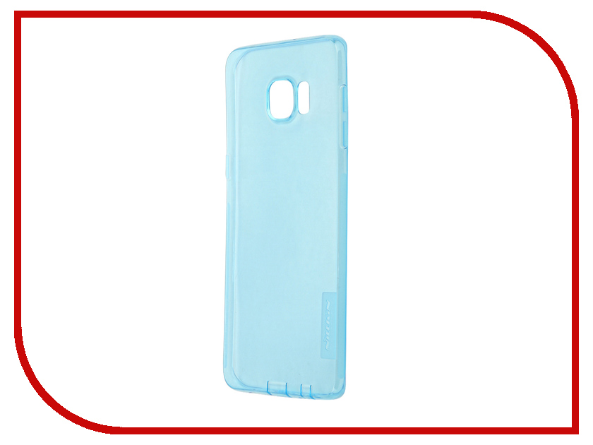 Аксессуар Чехол Nillkin for Samsung Galaxy S6 Edge+ G928T Nature TPU Transparent Blue аксессуар чехол клавиатура samsung g928f galaxy s6 edge ej cg928rbegru