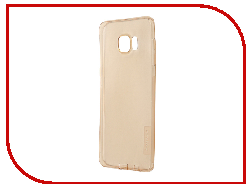 Аксессуар Чехол Samsung Galaxy S6 Edge+ G928T Nillkin Nature TPU Transparent Gold<br>