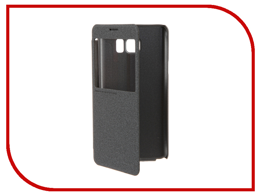 Аксессуар Чехол Samsung Galaxy Note 5 N920T Nillkin Sparkle Black<br>