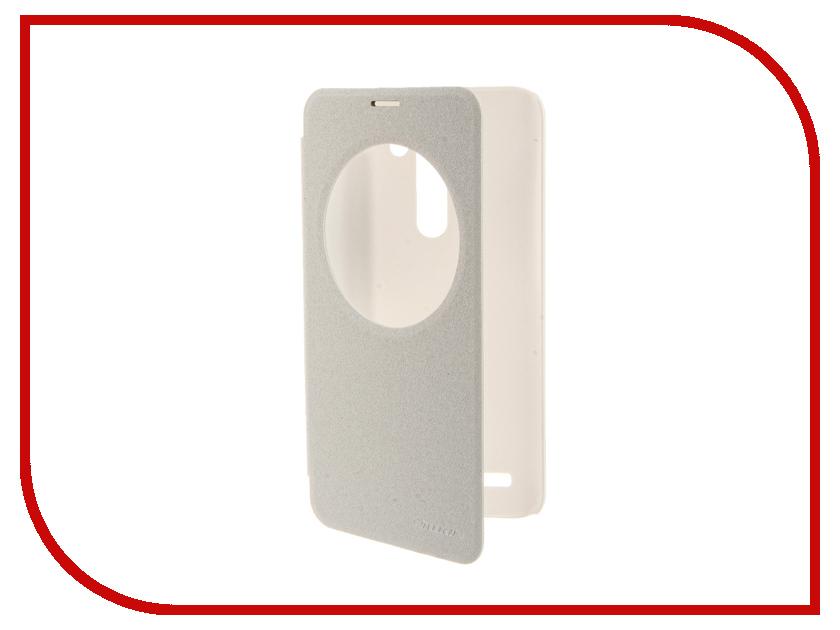 Аксессуар Чехол ASUS ZenFone Laser 2 ZE550KL/ZE551KL Nillkin Sparkle White<br>
