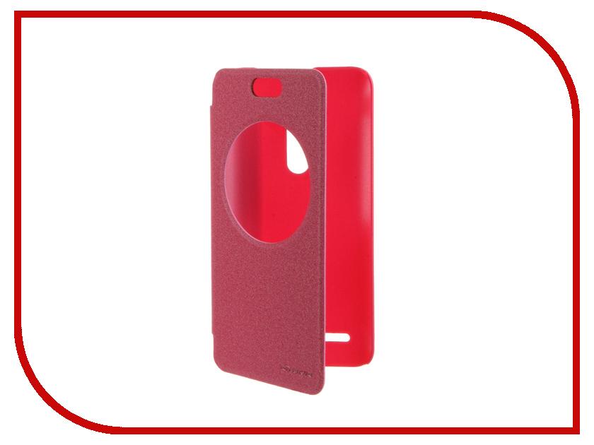 Аксессуар Чехол ASUS ZenFone Selfie ZD551KL Nillkin Sparkle Pink-Red<br>