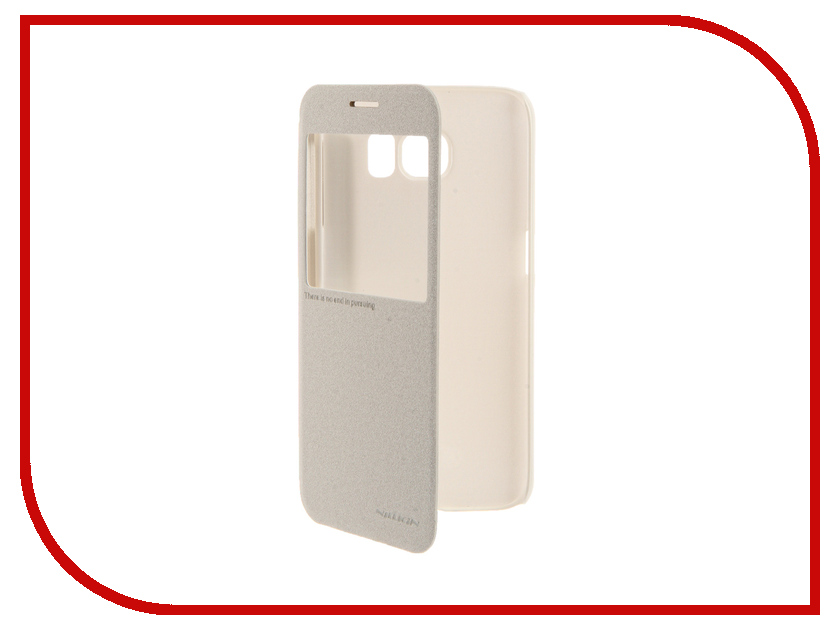 Аксессуар Чехол Samsung Galaxy S6 G920F Nillkin Sparkle White<br>