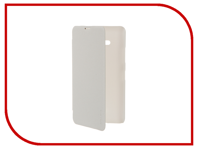 Аксессуар Чехол Microsoft Lumia 640 Nillkin Sparkle White