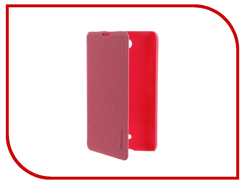 Аксессуар Чехол Microsoft Lumia 430 Dual Sim Nillkin Sparkle Pink-Red