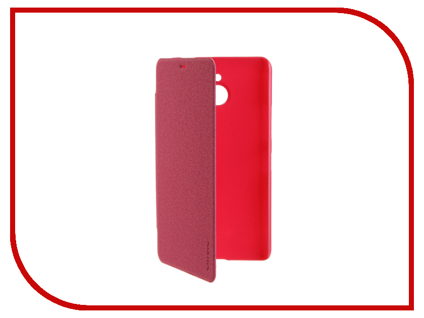 Аксессуар Чехол Microsoft Lumia 640 XL Nillkin Sparkle Pink-Red<br>