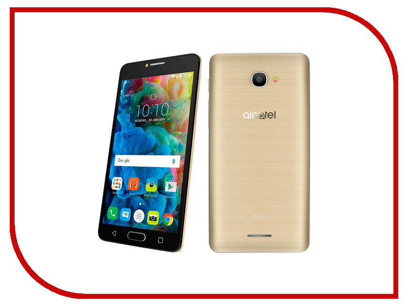 Сотовый телефон Alcatel 5095K POP 4S Metal Gold сотовый телефон alcatel onetouch 5070d pop star soft slate silver gold
