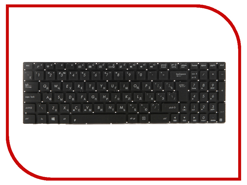 Клавиатура TopON TOP-100643 для ASUS N56 / N56V / N76 / N76V Series Black