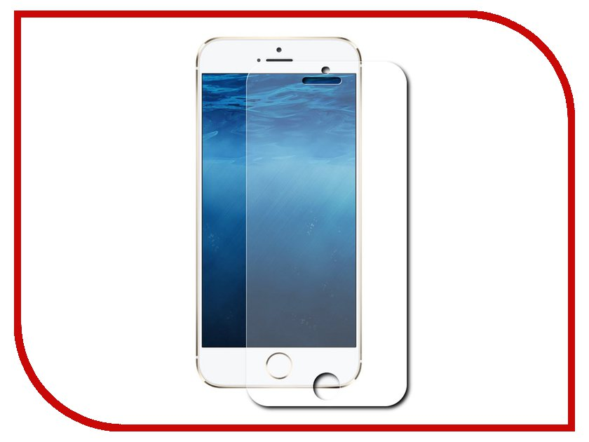 Аксессуар Защитное стекло Finity для iPhone 6 PLUS Silver<br>
