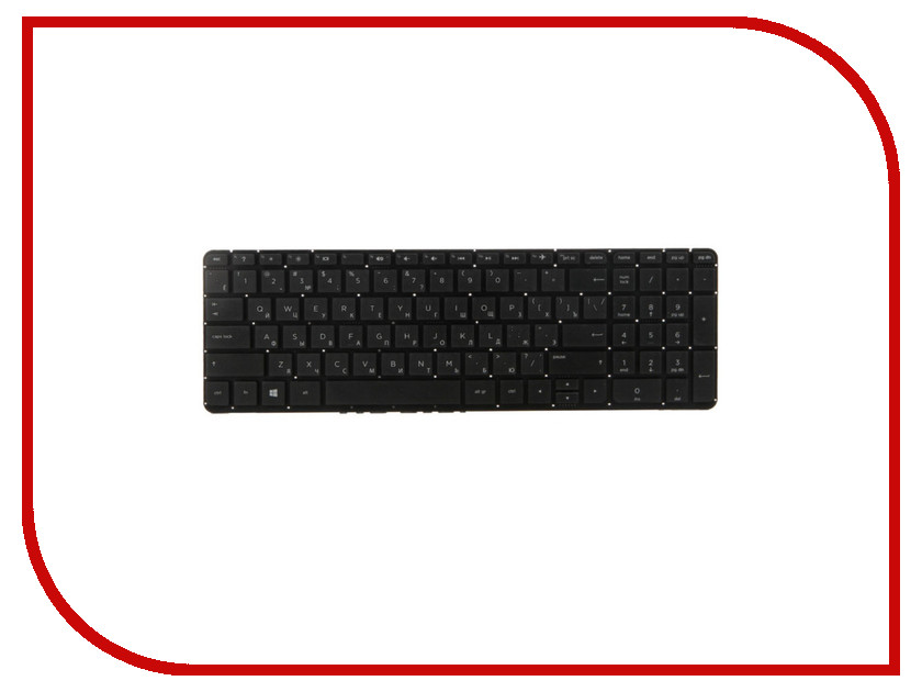 Клавиатура TopON TOP-100476 для HP 15-v / 15-p / 17-f Series Black клавиатура topon top 99934 для asus x551ca x551cav x551ma black